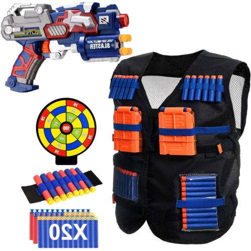 vest compatible with nerf guns blaster gun