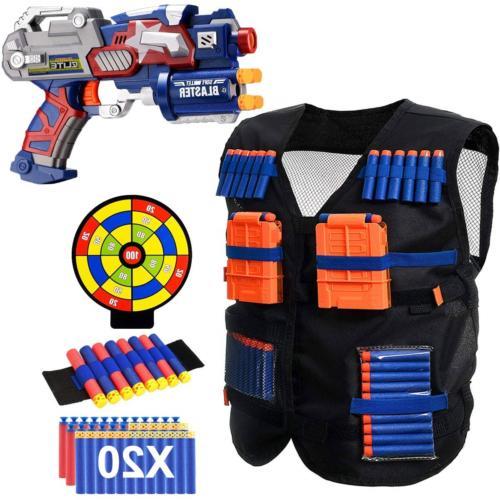 POKONBOY Vest Compatible with Nerf Guns - Blaster Gun and Ta