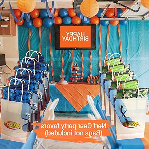 Wishery Party Supplies for 8 for Nerf Gun Includes Holders, Tactical Face Eye