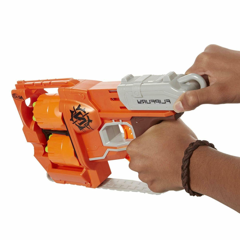 Nerf Zombie Strike Fury Gun with Darts for Boys
