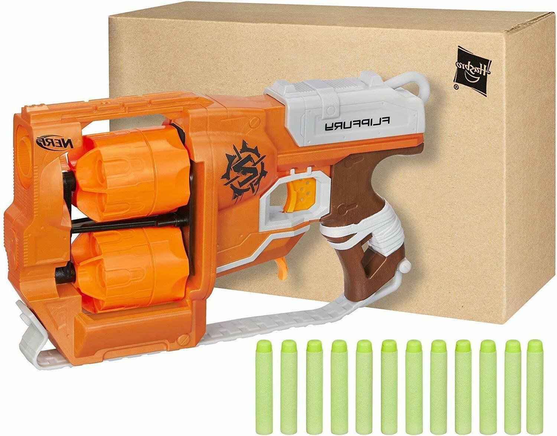 Nerf Flipfury For Boys Zombie Strike Blaster Guns For