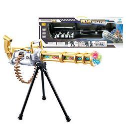 "Mozlly Light Up Gatling Revolving Gun, 23"" Includes Tripod w"