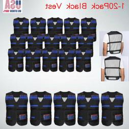 Lot Tactical Vest Kit Kids Darts Mask Wrist Band for Elite N