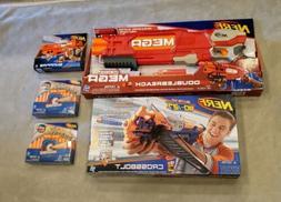 Lot of 3 NERF N-STRIKE GUNS MEGA DOUBLEBREACH / SNAPFIRE / C