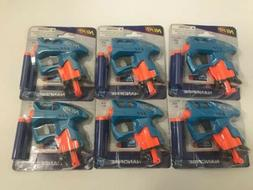 Lot of 6 NERF Blue NANOFIRE Guns Blasters with Elite Darts
