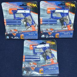 NERF N-Strike Jolt Gun darts New NIB Sealed Lot of 3 mini to