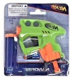 NERF NANOFIRE Blaster Mini Dart Gun w/ 3 Elite Darts -Green