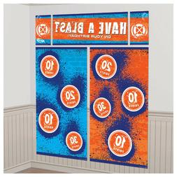 NERF Birthday Party Decorations Wall Backdrop Targets Backdr