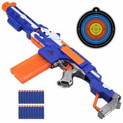 Nerf Gun Soft Bullets Target Set Boys Gift Ideas Toy Dart Bl