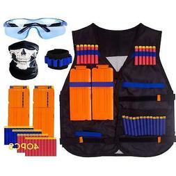 Nerf Gun Tactical Vest Kids Foam Darts Mask Glasses Kit Set