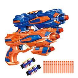 Fstop Labs 2 Pack Foam Hand Gun Toy Blaster Gun Compatible w