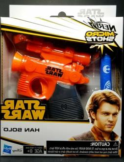 "Nerf MicroShots Star Wars ""Han Solo"" Blaster  Ages 8+ New!"