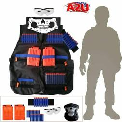 For Kids NERF TACTICAL VEST Kit Game Gun Strike Foam Darts M