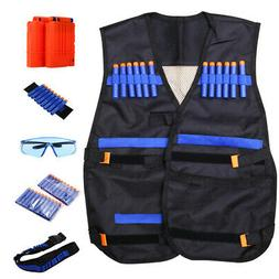 Nerf Vest Kids Tactical Foam Darts Glasses Kit Set For Nerf