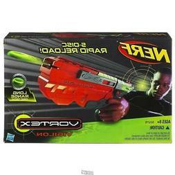 Nerf Vortex Vigilon 5-Disc Rapid Reload Gun Long Range Disc