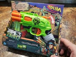 NEW NERF Doublestrike Zombie Strike gun shoot double barrel