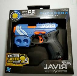 New Nerf Gun Rival Knockout Blaster Blue Toy Hand Guns Foam