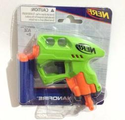 New Hasbro Nerf Nanofire Green Blaster Gun & 3 Blue Elite Da