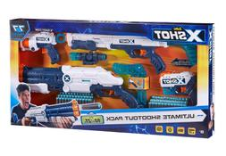 New Set of 4 Foam Dart Guns for Boys Toy Nerf Gun Blasters I