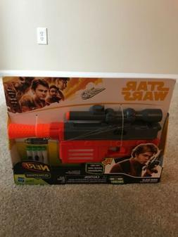 New Nerf Star Wars Han Solo Blaster Glowstrike 4 Darts Laser