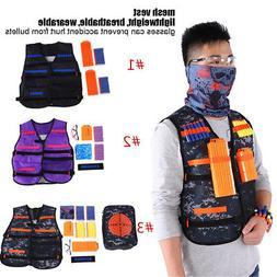 NEW Vest Kids Tactical Foam Darts Mask Glasses Kit Set For N