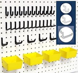 WallPeg 43 Pc. Peg Board Storage System - Pegboard Hook Asso