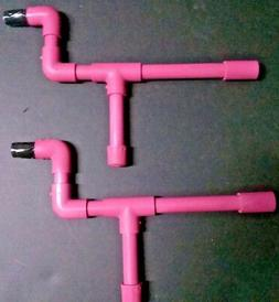 Pink Mini Marshmallow PVC Blow Guns Set of 2 Shooters Mini M
