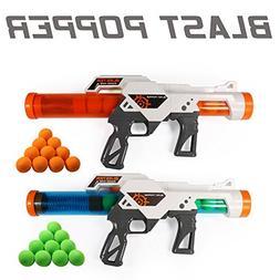 EXERCISE N PLAY 2 PCS Power Popper Gun Dual Battle Pack Foam