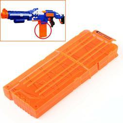 Quick Reload Clip System Darts for Toy Gun Nerf N-Strike Bla