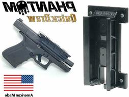 quickdraw magnetic gun mount and holster concealed