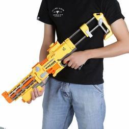 Rapid Fire Machine Gun Rifle Blaster Toy Gun Soft Bullets Ki