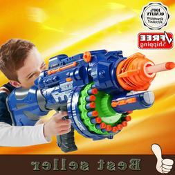 Rapid Fire Machine Gun Rifle Blaster Toy Gun Soft Bullets Da