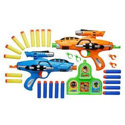 Rapid Fire Nerf Style Toy Machine Gun Rifle Blaster Soft Bul