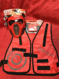 Red Rival Face Tactical Mask & Vest - Dart Gun Game kids Toy
