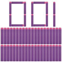 Refill Bullets, Peleustech 100Pcs Dart Refills for Nerf Rebe
