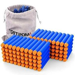 AMOSTING Refill Darts 100PCS Bullets Ammo Pack for Nerf N-St