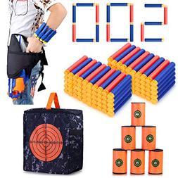 Refill Darts Kit for Nerf, 500PCS Refill Soft Tip Bullets,Wa