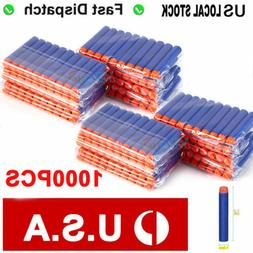 1000pcs EVA Foam Refill Bullets Darts for Elite Series Blast