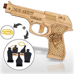 Rubber Band Gun Toy Pistol for Kids Age 6 and up with Ammo a