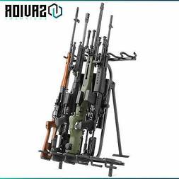 6-Slot Foldable Steel Gun Rifle Rack Stand Shotgun Display