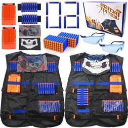 Set of 2 Vest Kit Tactical Vest for Nerf Guns Games for Kids