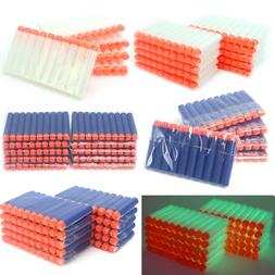 100pcs Soft Darts Round Head Bullets Blasters For Nerf N-str