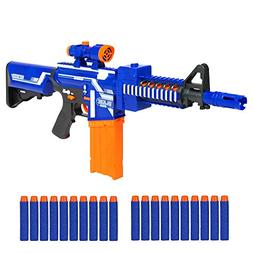 Kids Soft Foam Bullet Blaster Semi Automatic Toy Gun Distanc