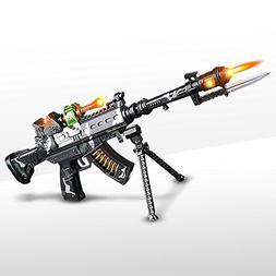 ArtCreativity Special Forces Toy Machine Gun with LEDs, Soun
