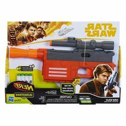 Star Wars Nerf Han Solo Blaster Glowstrike 4 Darts Laser Bla