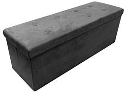 Sorbus Storage Ottoman Bench – Collapsible/Folding Bench C