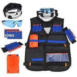 Tactical Blasters & Foam Play Vest Kit For Nerf Guns N-Strik