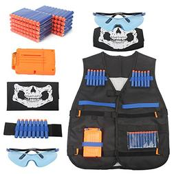 AMOSTING Tactical Vest for Kids, Adjustable Tactical Vest Ki