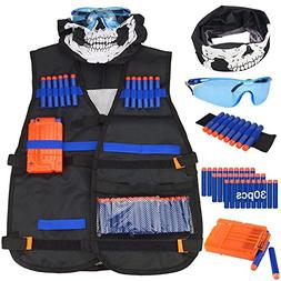 Kids Tactical Vest Kit,Shinemore Tactical Vest Jacket Kit fo