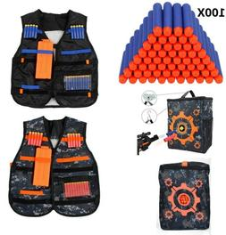 Tactical Vest Dart Kit Adjustable for Nerf N-strike Elite Se